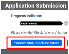 Perform final check for errors