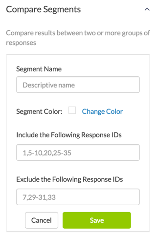 Add Segment By Response ID