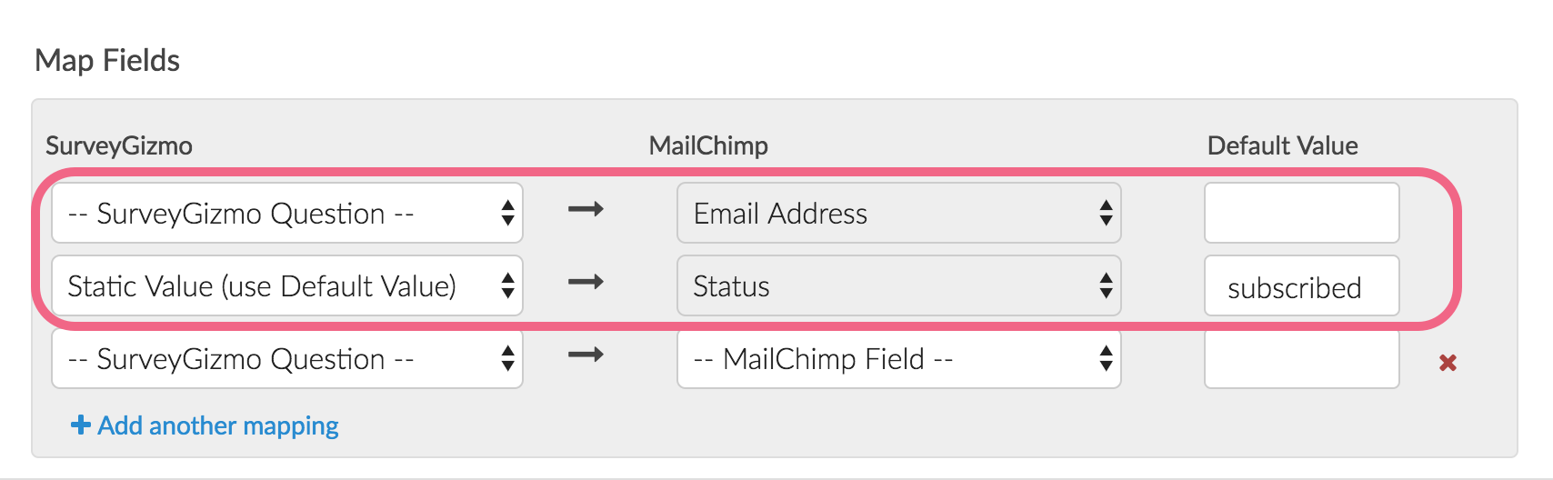 Email Address and Status