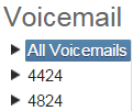 Image displaying the voicemail list.
