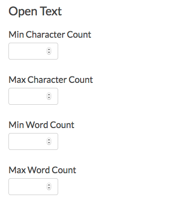 Essay Min/Max Character & Word Counts