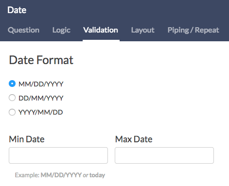 Date Format Validation