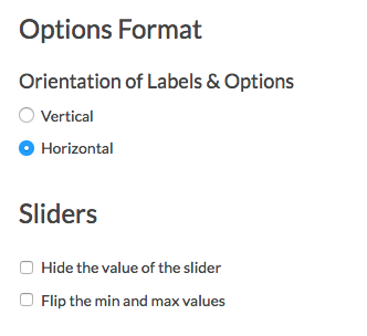 Slider Layout Options