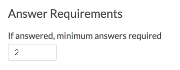 Slider List Answer Requirements