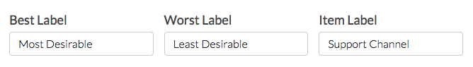 Customize Max Diff Labels