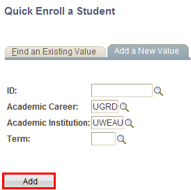 Enter student's information and click add