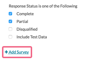 Add Survey to Your Global Filter