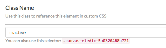 Add CSS Class Name