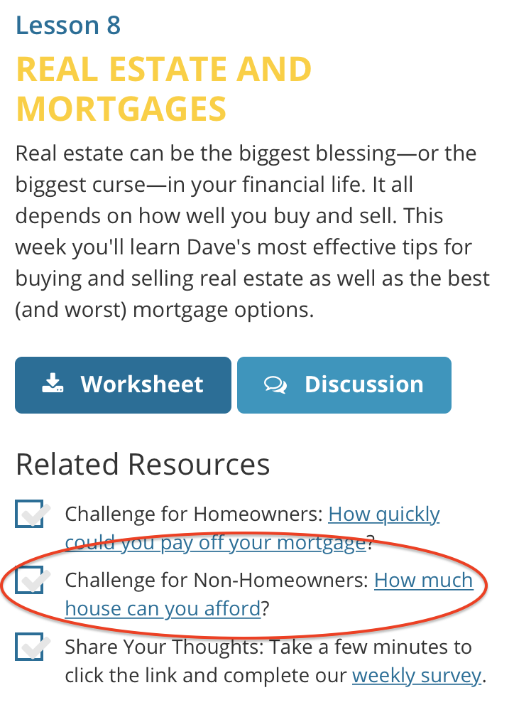 because the mortgage calculator tool is associated with lesson 8 real estate and mortgages you can also find a link to the mortgage calculator under the