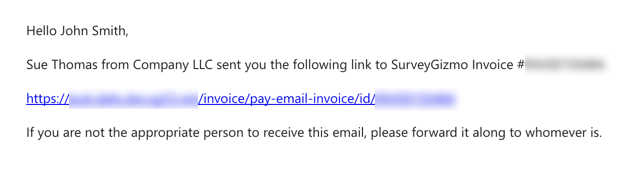 Emailed Invoice Example