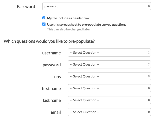 Login Action: Pre-Populate Survey Questions/Fields