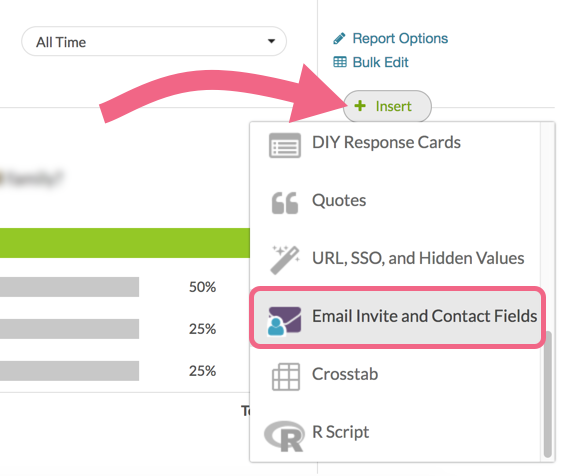 Insert Email Invite and Contact Fields Element