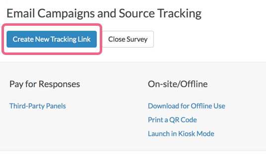 Create New Tracking Link