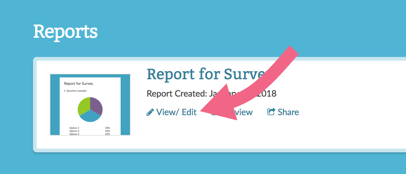 View your Standard Report