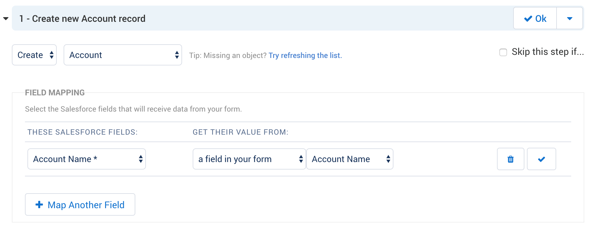 Linking Records In The Salesforce Connector FormAssembly Resource - Salesforce invoicing app