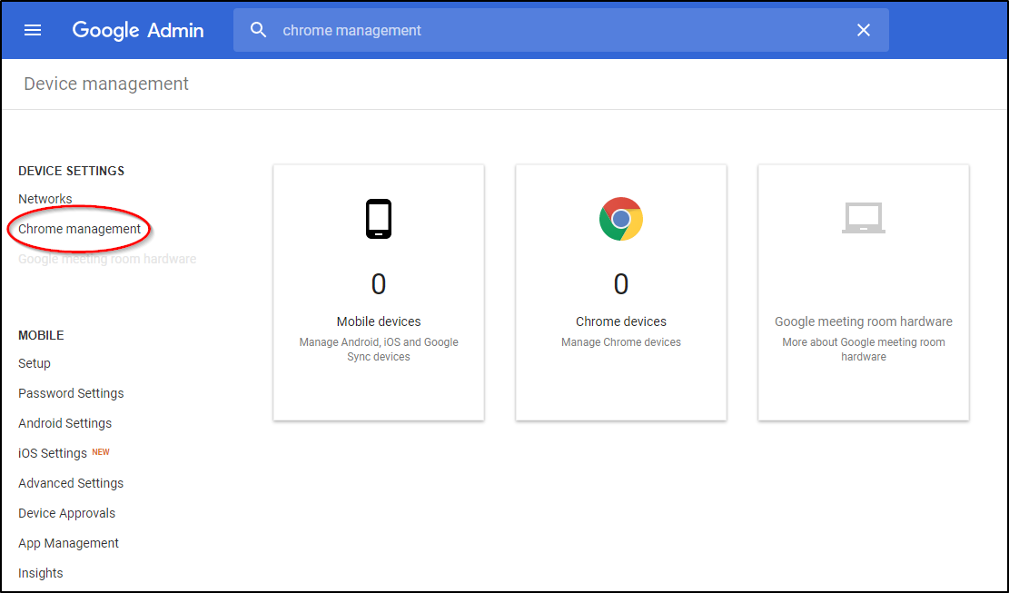 Google Admin Console Chrome Management