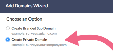 Create Private Domain