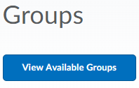 Shows View Available Groups button