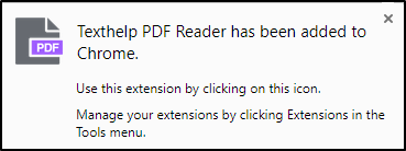 Texthelp PDF Reader has been added to Chrome
