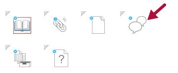 Indicates Discussion icon in Course Builder