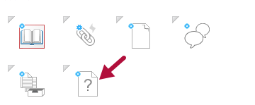 Indicates Quiz icon in Course Builder