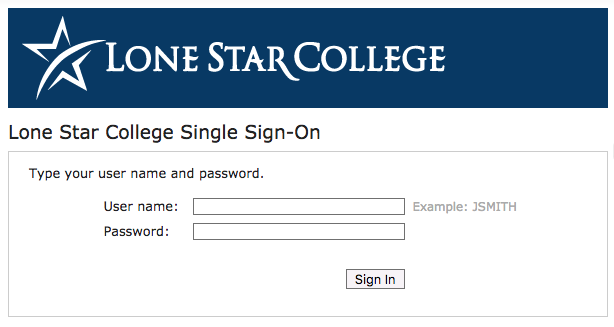 Single Sign-On Screen