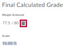 Identifies How Final Grade Was Calculated icon