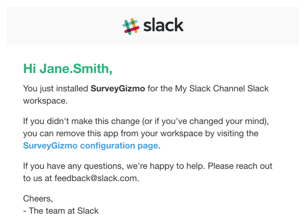 Slack Email Notification