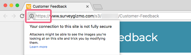Google Chrome - Site Is Not Fully Secure