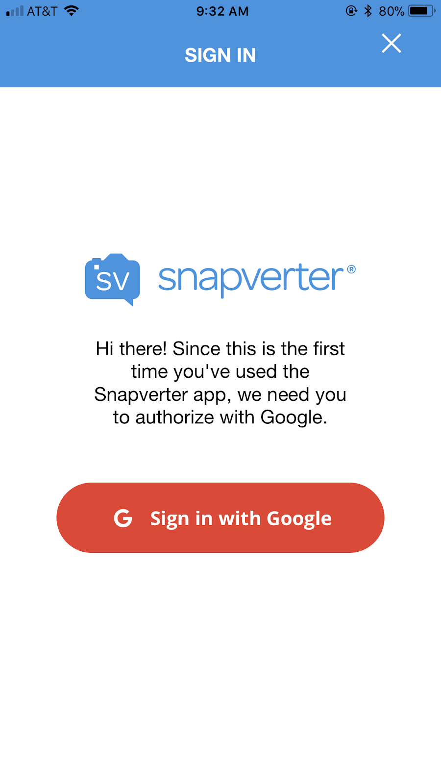 Sign in with Google icon