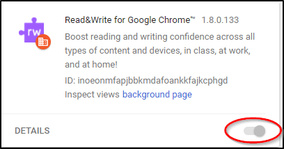 Read&Write for Google Chrome Extension Installed by Enterprise Policy