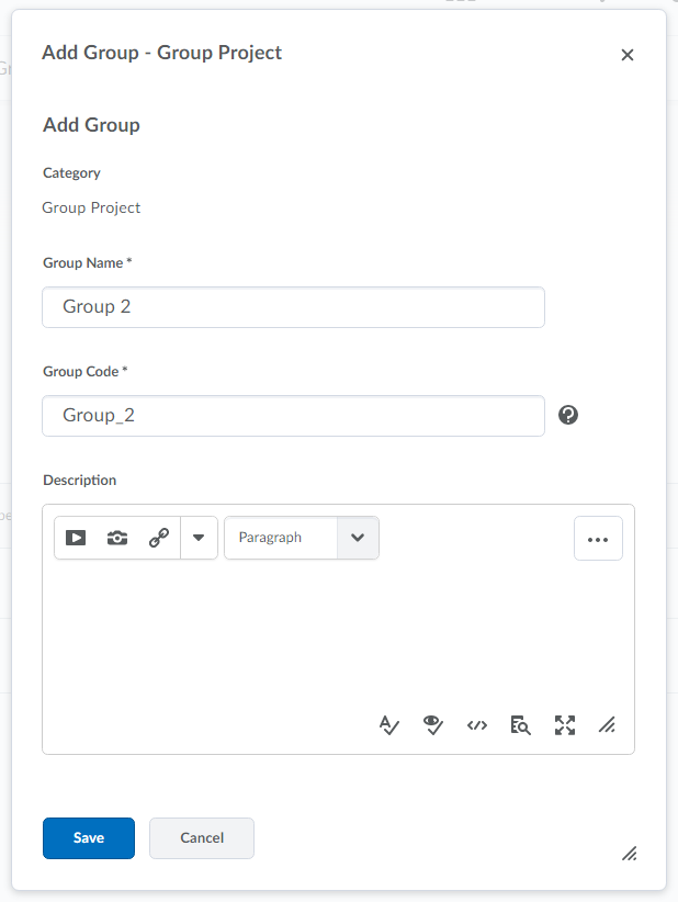 Image of group naming options