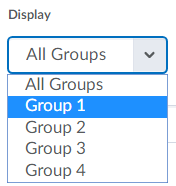 Image of group list display