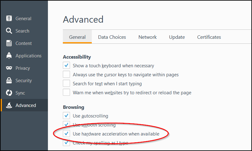 Use hardware acceleration when available