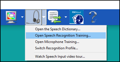 Read&Write Speech Input Options