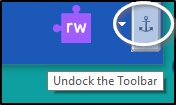 Undock the toolbar