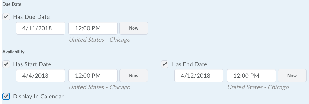 Shows Date Restriction Options