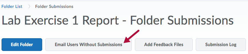 Email Users Without Submissions option on Folder Submissions page