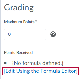 Edit Using the Formula Editor link.