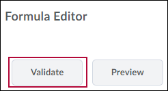 Shows the Formula Editor options and identifies the