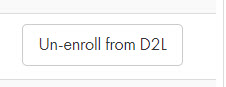 Example Un-enroll from D2L button on Verify Roster form