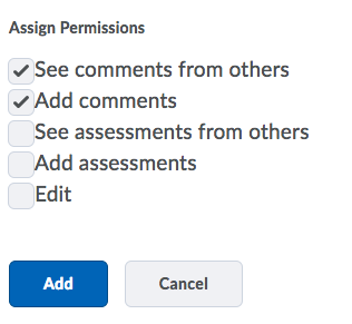 Shows the Assign Permissions options and the Add button.