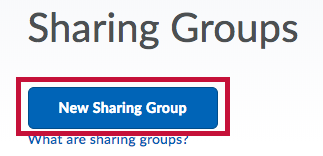 Identifies the New Sharing Group button.