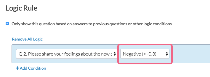 Logic Example Using Negative Sentiment