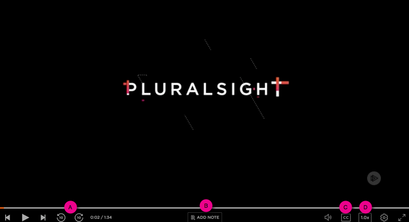 how to use the video player on Pluralsight