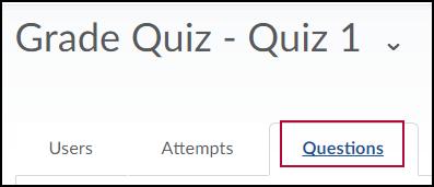 Grade Quiz Questions tab.