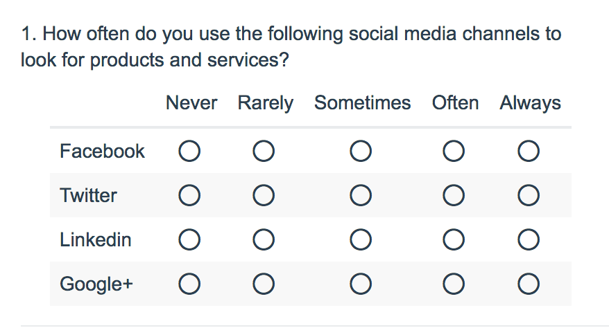 Radio Button Grid