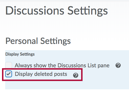 Display deleted posts