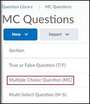 Identifies Multiple Choice Question