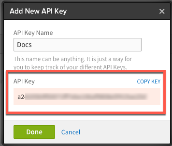 Key secret and URL